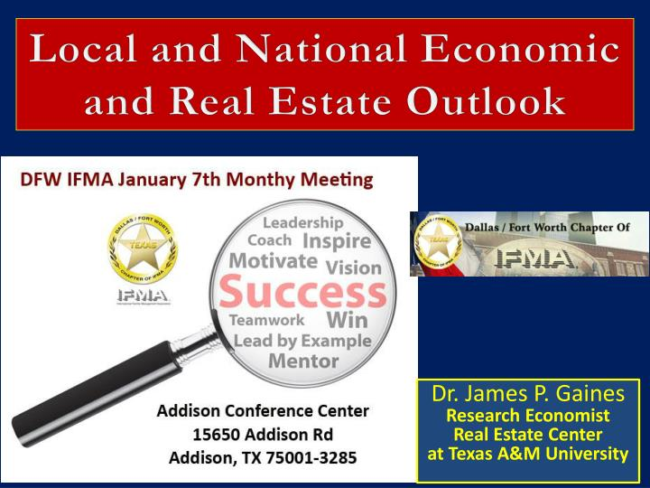 local and national economic and real estate outlook n.