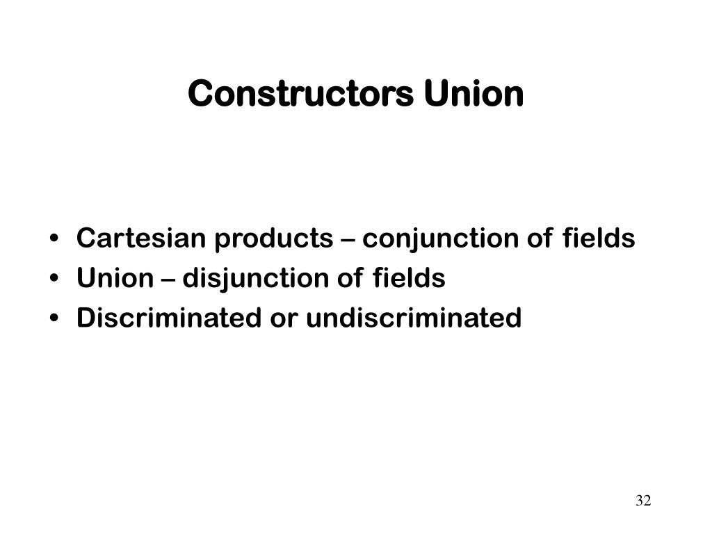 Constructors Union