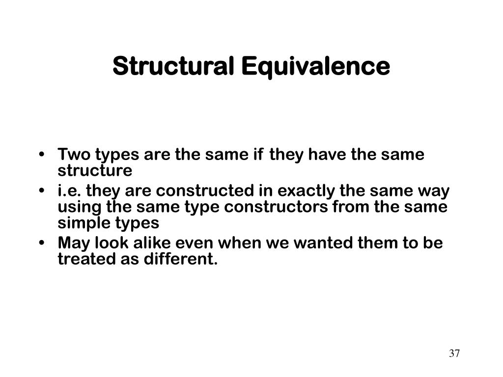 Structural Equivalence