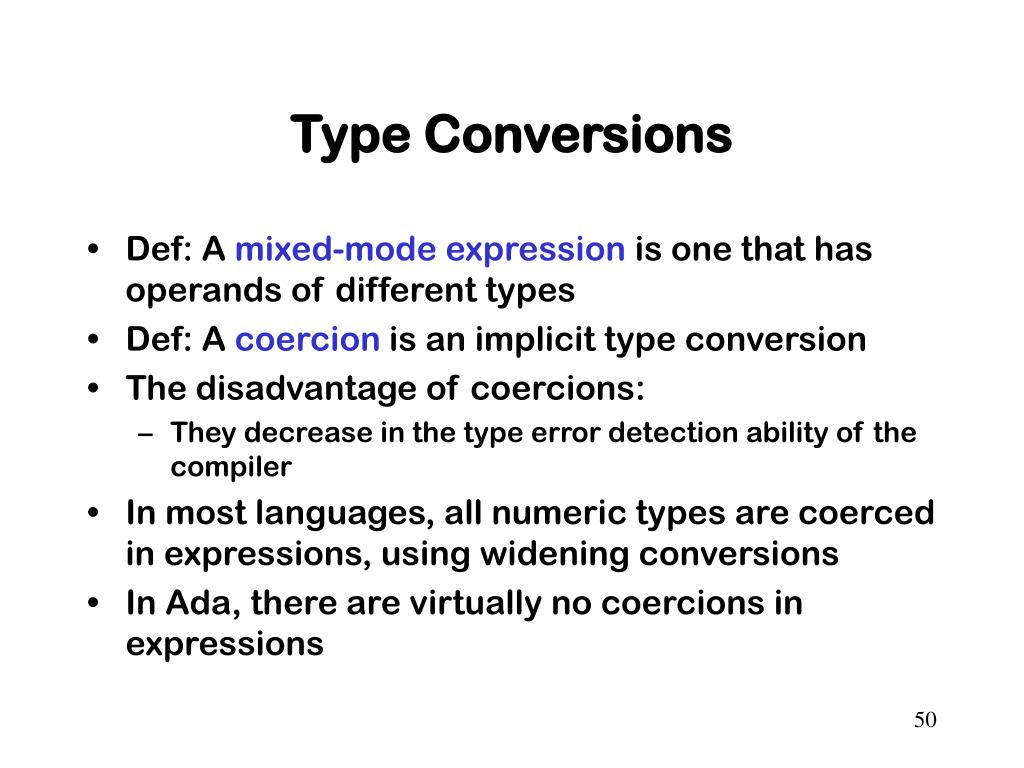 Type Conversions