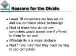 reasons for the divide