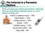 the internet is a pervasive medium