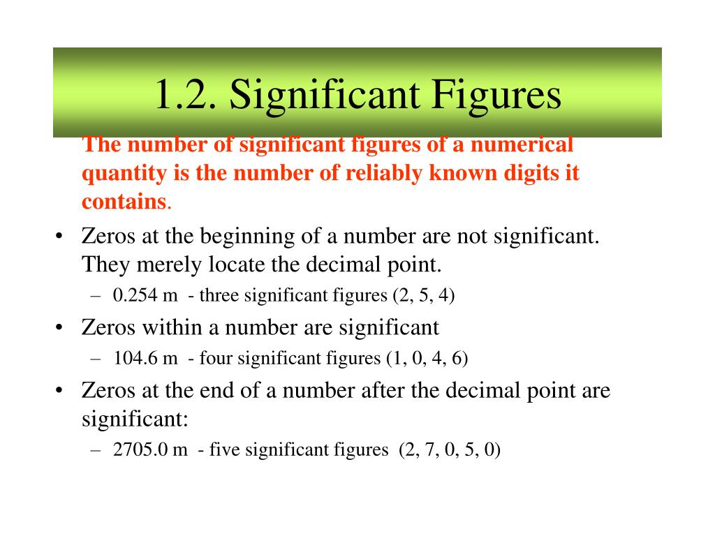 1.2. Significant Figures