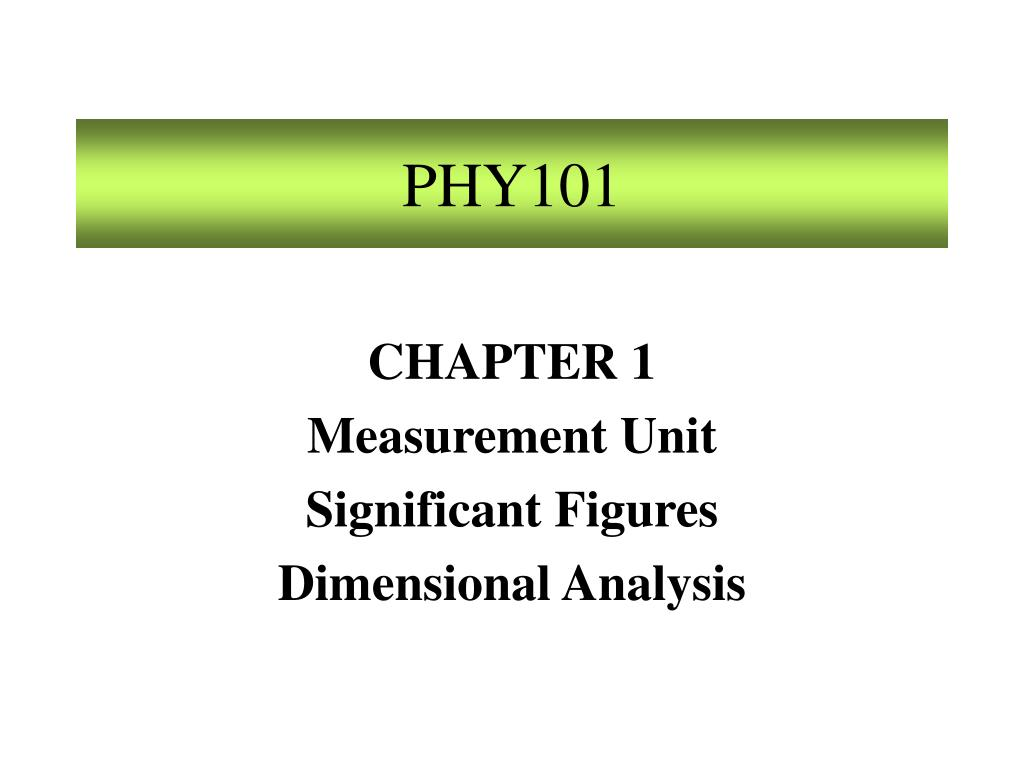 PHY101