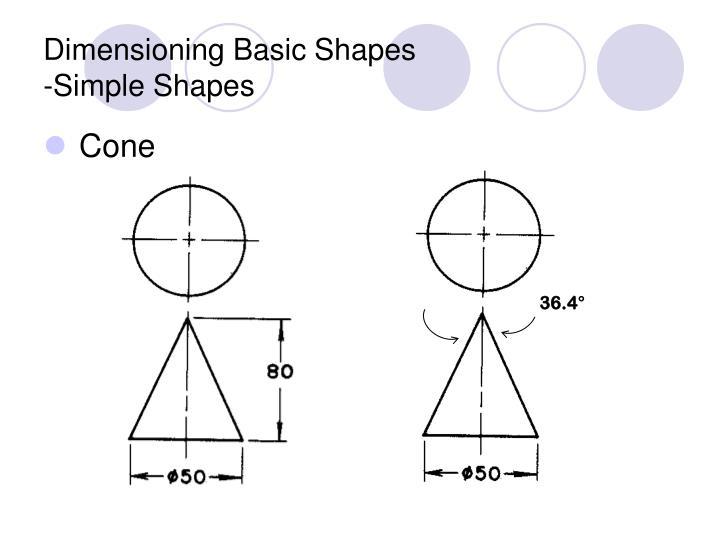 Dimensioning basic shapes simple shapes3