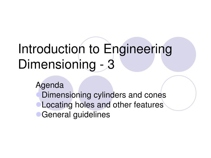 Introduction to engineering dimensioning 3