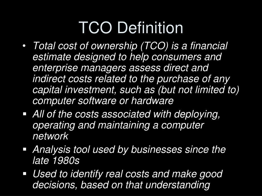 TCO Definition