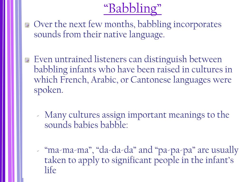 """""""Babbling"""""""
