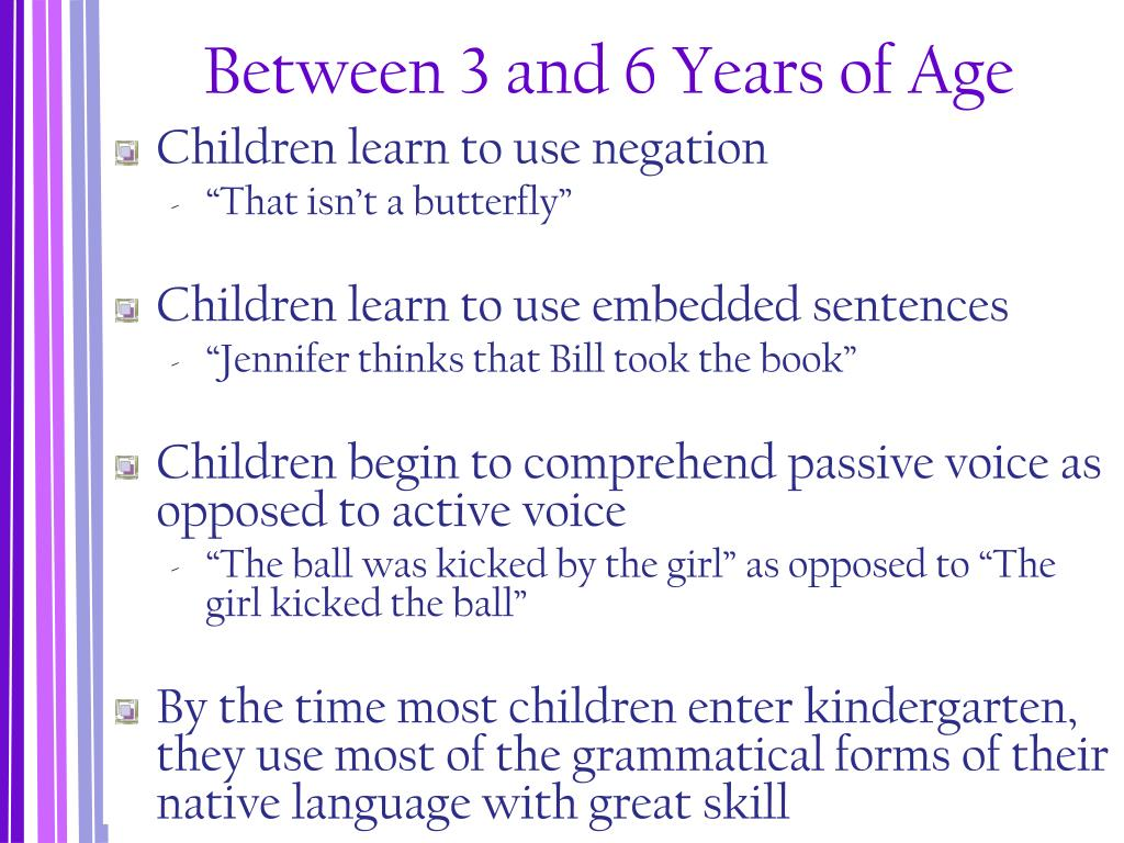 Between 3 and 6 Years of Age