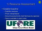1 resource assessment