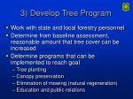 3 develop tree program
