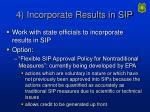 4 incorporate results in sip