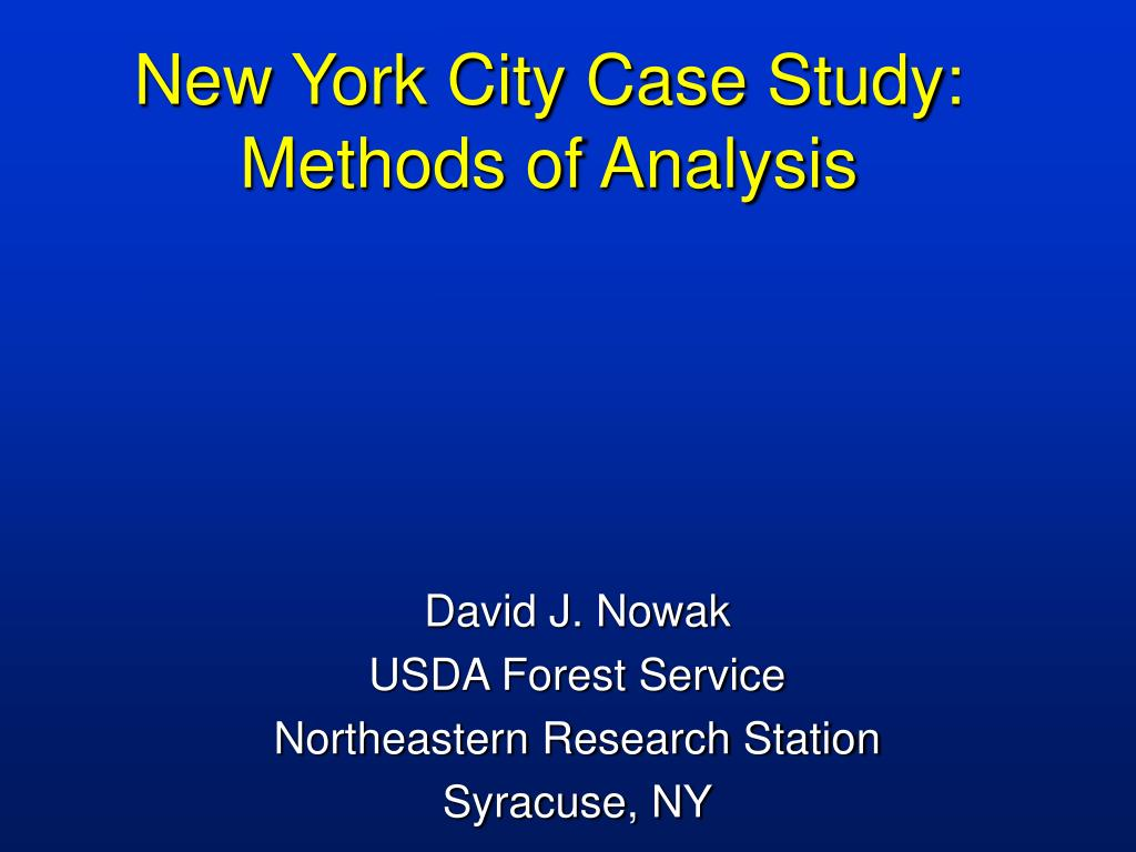 new york city case study methods of analysis l.