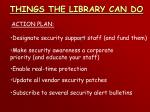 things the library can do