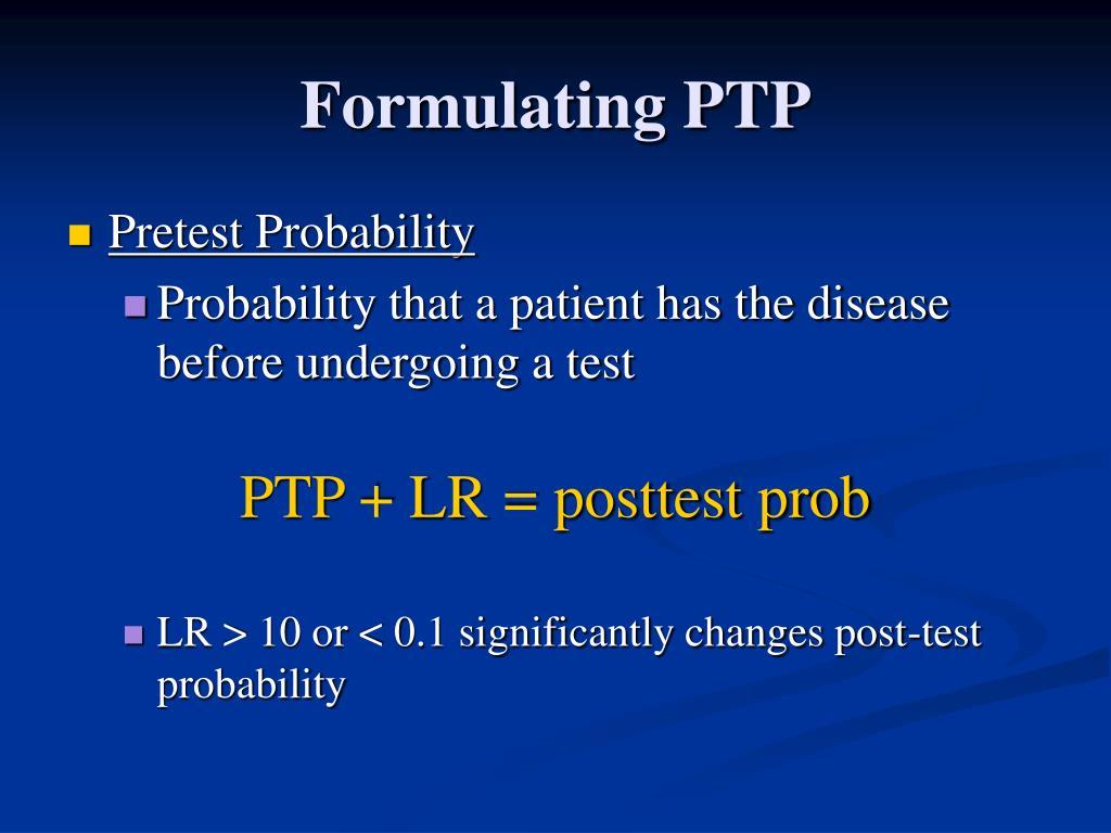 Formulating PTP