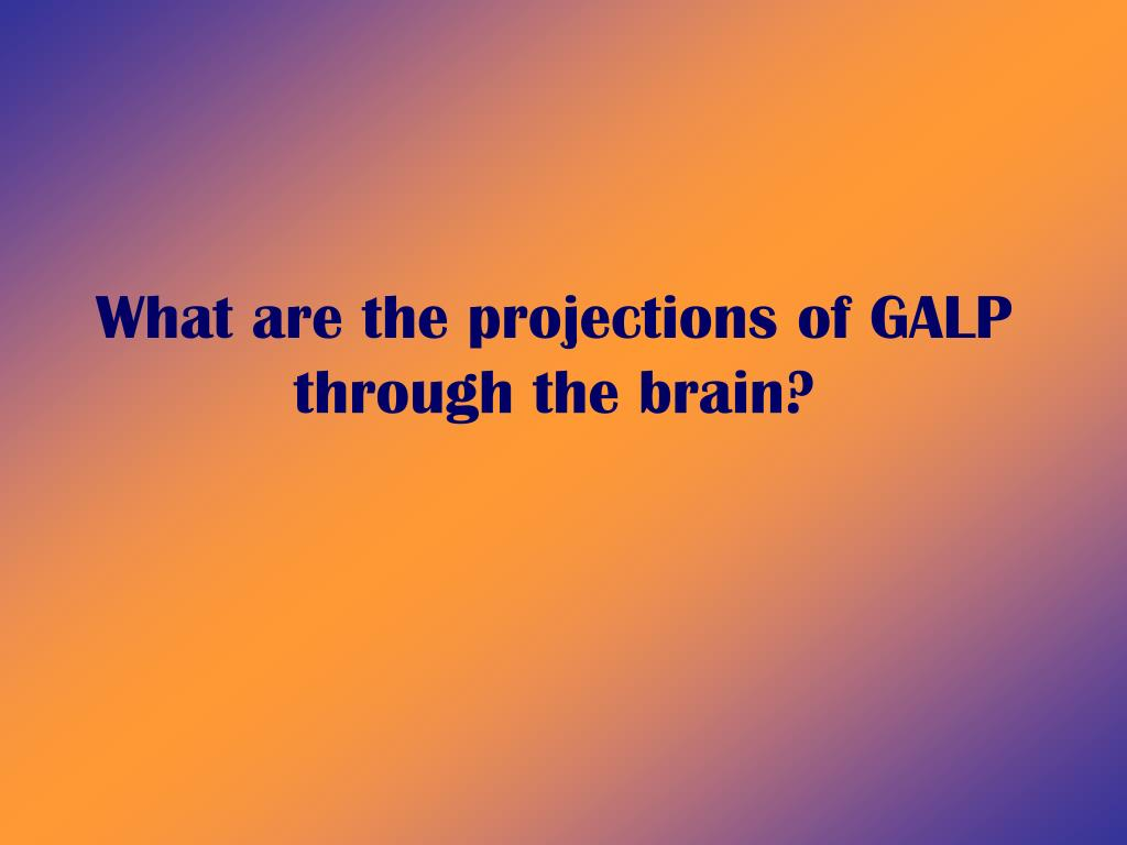 What are the projections of GALP through the brain?
