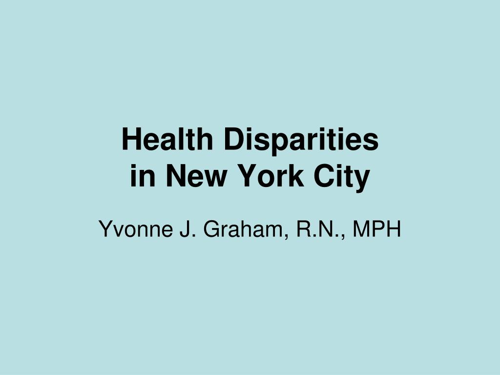 health disparities in new york city l.