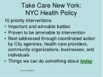 take care new york nyc health policy