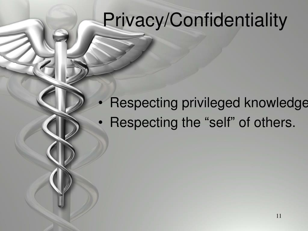 Privacy/Confidentiality