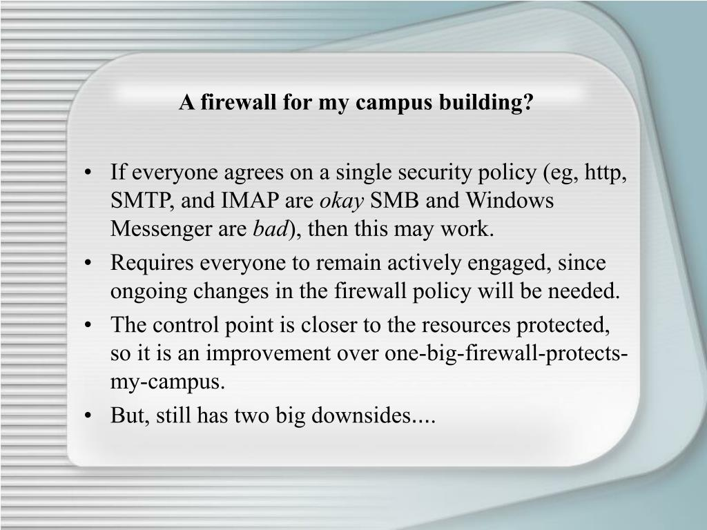 A firewall for my campus building?