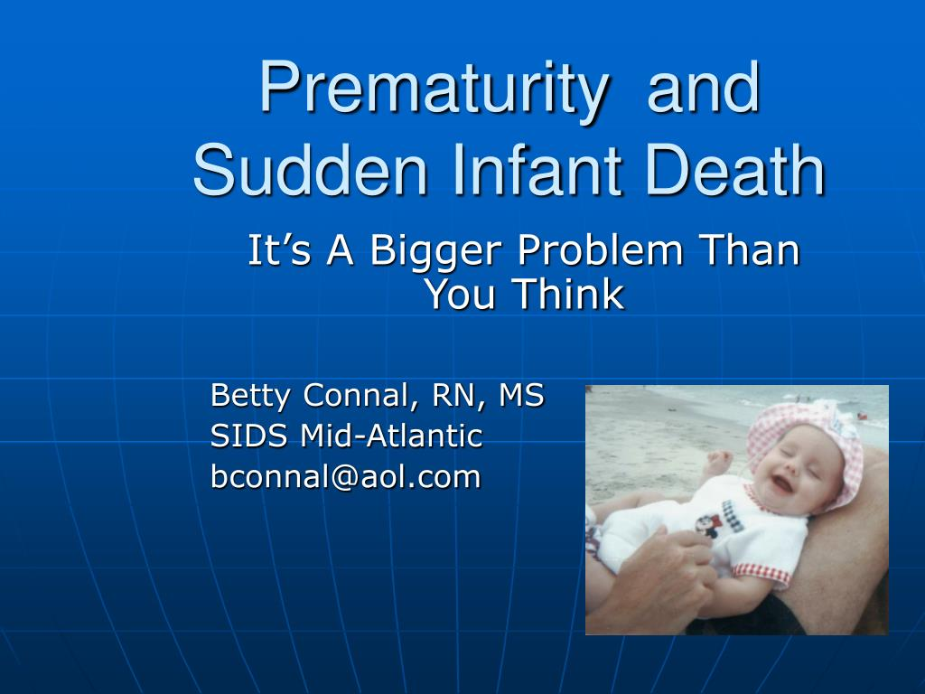 the features of the sudden infant death syndrome