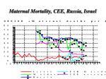 maternal mortality cee russia israel