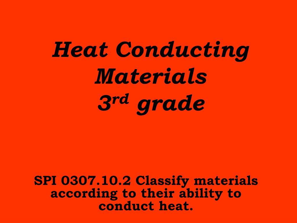 heat conducting materials 3 rd grade