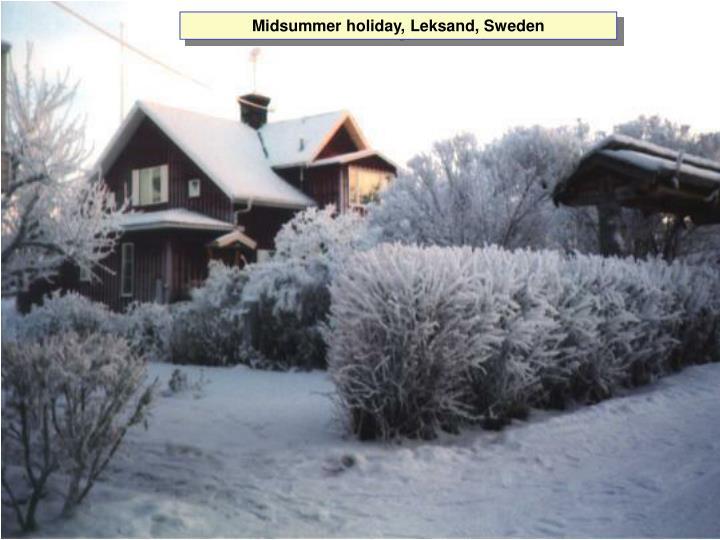 Midsummer holiday, Leksand, Sweden