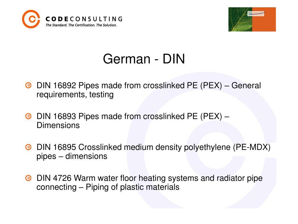 German - DIN