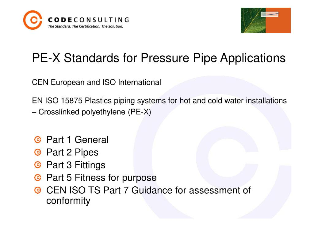PE-X Standards for Pressure Pipe Applications