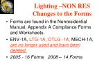 lighting non res changes to the forms