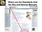 where are the standards and the res and nonres manuals8