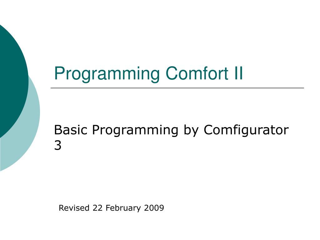 programming comfort ii l.