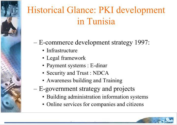 Historical glance pki development in tunisia