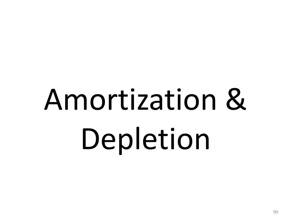 Amortization & Depletion