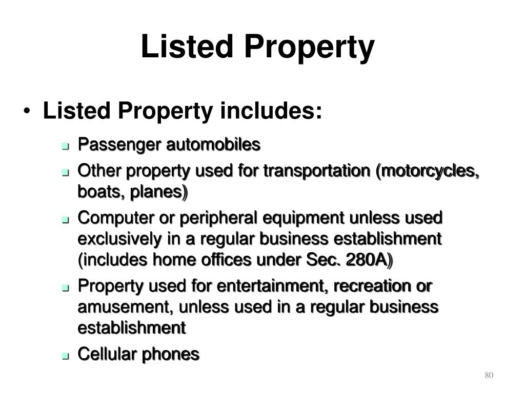 Listed Property