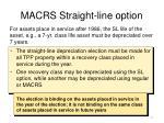 macrs straight line option