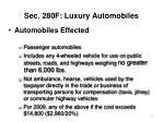 sec 280f luxury automobiles