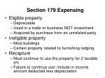 section 179 expensing59