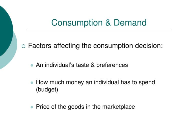 Consumption demand