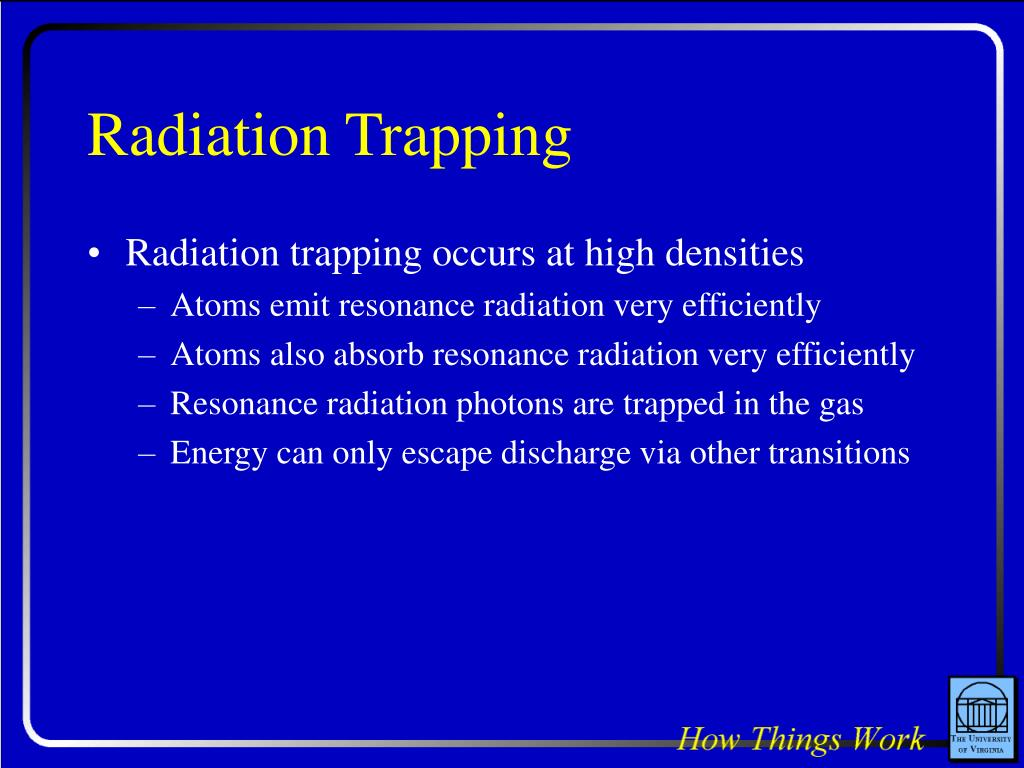 Radiation Trapping