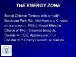 the energy zone