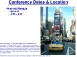 conference dates location