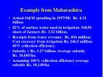 example from maharashtra