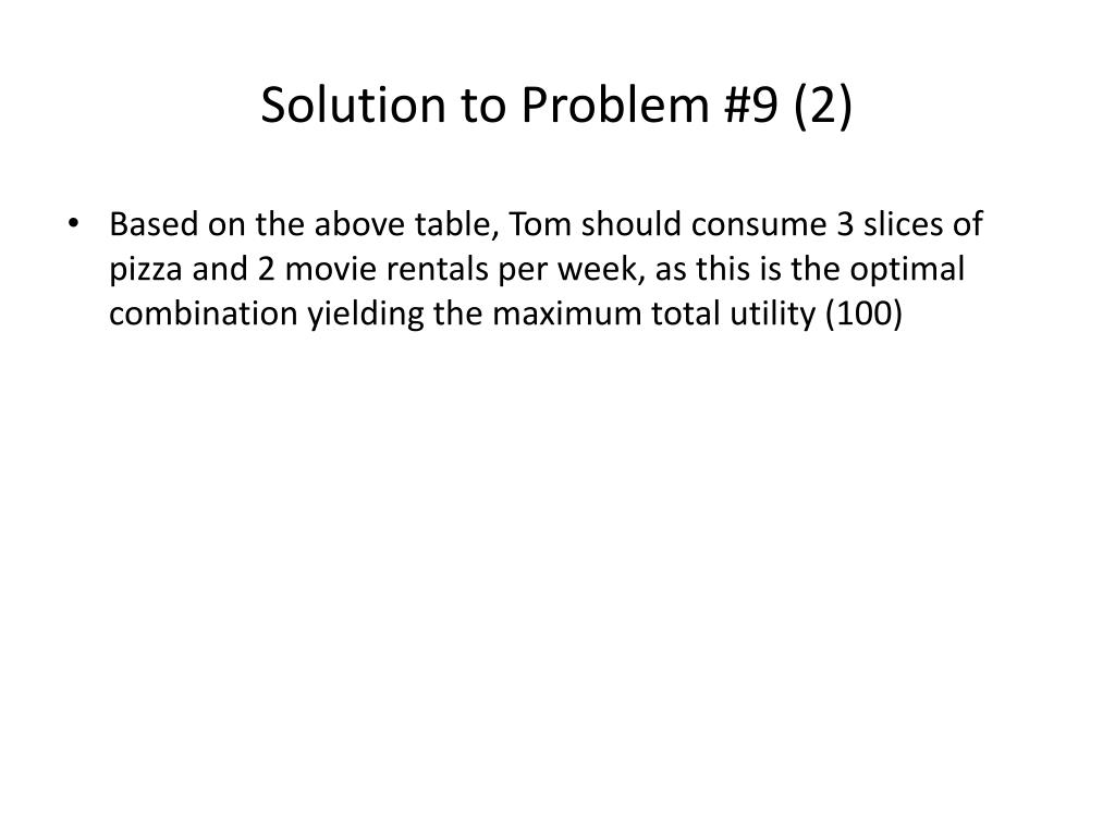 Solution to Problem #9 (2)