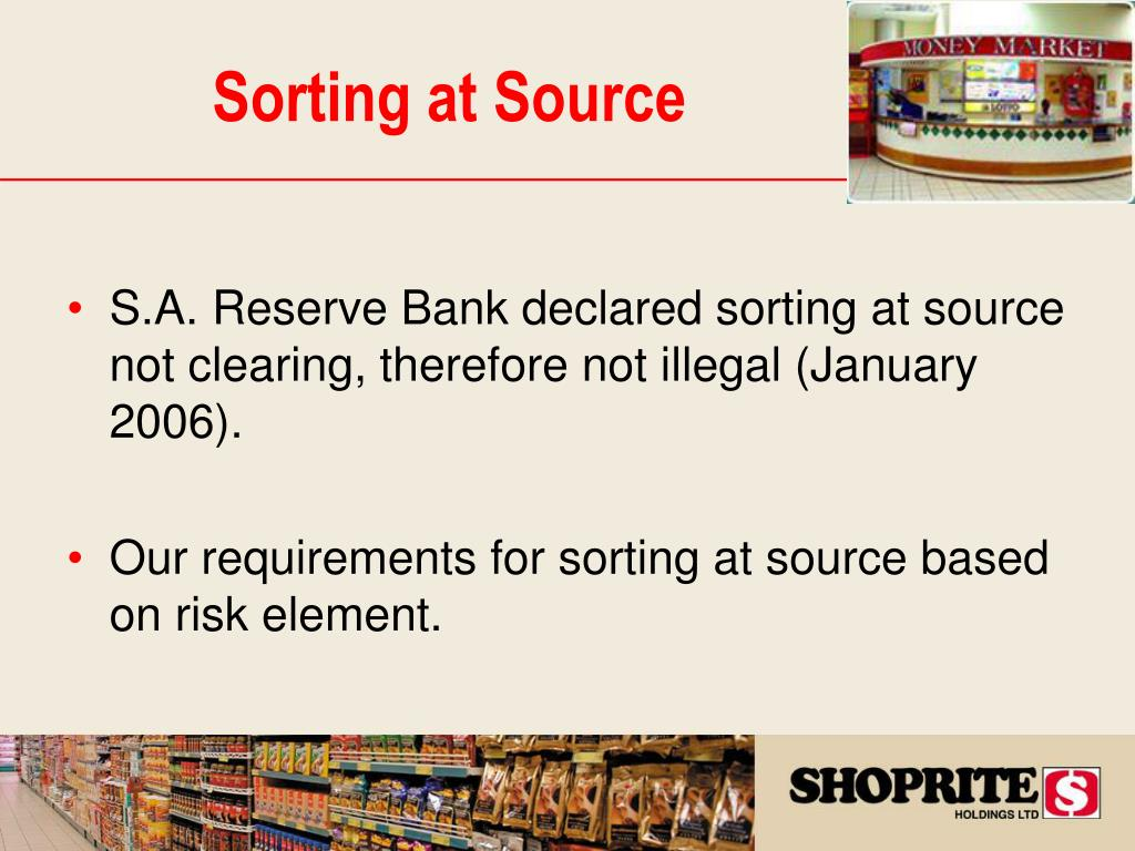 Sorting at Source