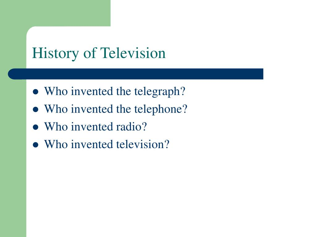 History of Television