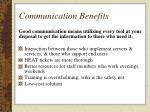 communication benefits