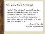 full time staff feedback