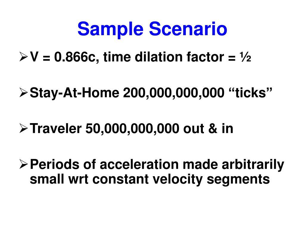 Sample Scenario